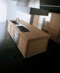 100 percent Solid Wood Kitchen which block chestnut wood definitely takes centre stage