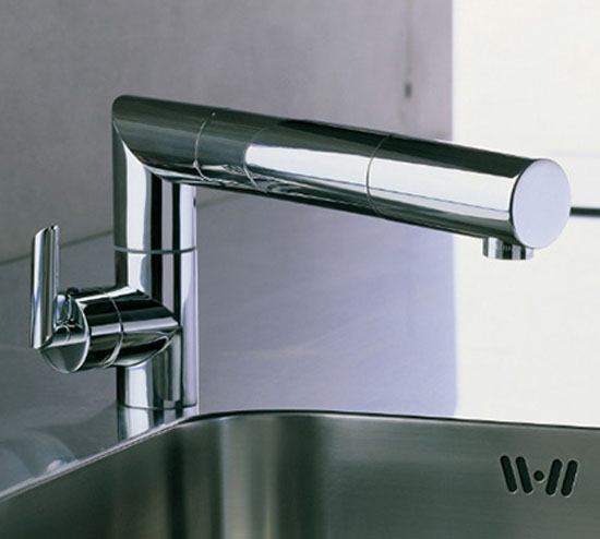 Adjustable Kitchen Faucet minimalist and modern look by Nobili