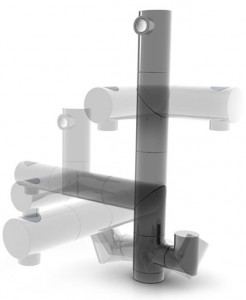 Adjustable Kitchens Faucet minimalist and modern look by Nobili