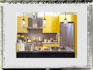 After Yellow Kitchen Cabinets Close kitchen ideas cabinets