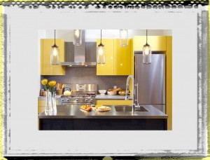After Yellow Kitchen Cabinets Close kitchen ideas colors