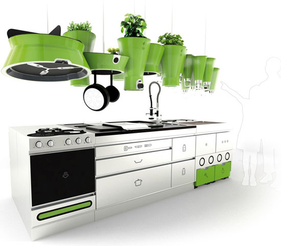 Amazing Ekokook kitchens with Water and Waste Management System by Faltazi