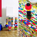 Amazing Lego styled kitchen in bright color combination by Simon Pillard and Philippe Rosetti