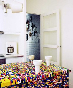 Amazing Lego styled kitchens in bright color combinations by Simon Pillard and Philippe Rosetti