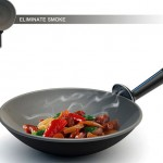 Amazing frying pan with activated carbon filter and fan to eliminate Smoke