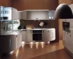 Americana kitchen curved lines design built environmentally friendly processe and free harmful element
