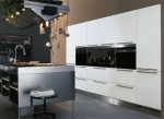 Antonio Citterio from Arclinea makes cabinets tops for cooking lighting in good position