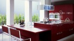 Bamboo Kitchens with minimalist chic at forefront and convenient kitchen island