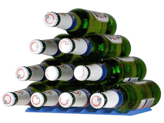 Beers storage like pyramid available in several smart colors