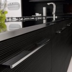 Black and White Kitchen Cabinets contrast design romantic atmosphere