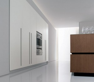 Bravo company kitchen equipped with high technology professional integrated into wall