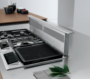 Bravo company kitchen equipped with high technology professional integrated into walls