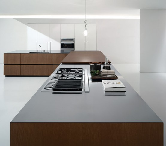 Bravo company kitchen equipped with high technology professionals integrated into walls