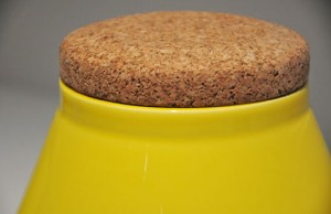 Ceramic Container store Jar keep our spices in glossy yellow