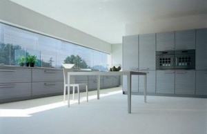 Cinqueterre anodized aluminum kitchen highly contemporary look by Schiffini