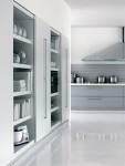Cinqueterre anodized aluminum kitchen highly contemporary looks by Schiffini