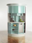Circle Kitchen island for home kitchen design in small space kitchens
