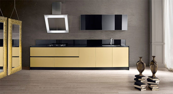 Class X Innovative Kitchen available in steel white and black finish by Moretuzzo