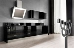 Class X Innovative Kitchen available in steel white and black finishes by Moretuzzo