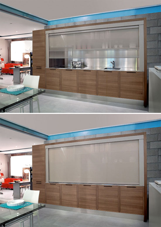 Class X Innovative Kitchens available in steels white and black finishes by Moretuzzo