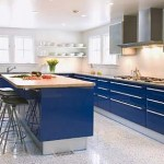 Cobalt Blue softest color Kitchen Cabinets from Snaidero