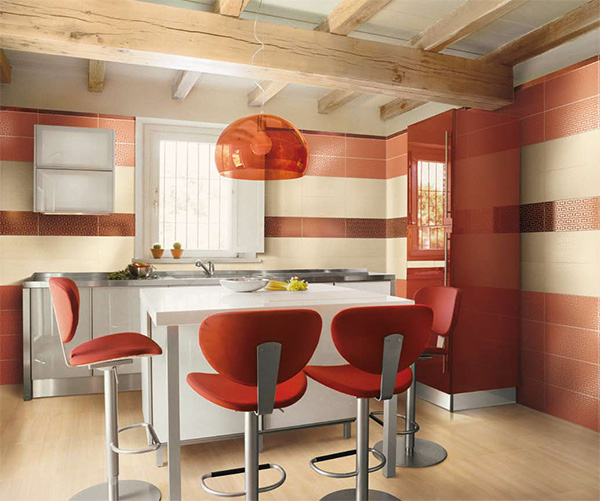 Colorful kitchen design for contemporary kitchens