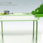 Compact kitchens island table saving spaces by Zivile Januskaityte