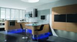 Contemporary Curve Kitchen with an integrated LEDs by Domina