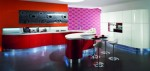 Contemporary Curve Kitchens with an integrated LED by Domina