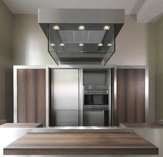 Contemporary Kitchen Sliding Island Top and Movable Storage Wall ideal venue for a cocktail party