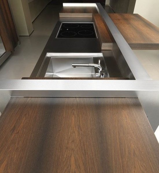 Contemporary Kitchen Sliding Island Top and Movable Storage Wall ideal venue for cocktail party