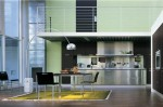 Contemporary Kitchen contrasted by cabinetry in black make comfort to cook