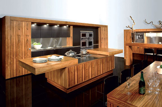 Contemporary Kitchen from Allmilmo creating extra counter space at either side
