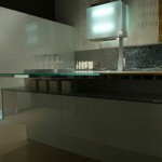 Contemporary Kitchen rippled contrast the high-gloss finish by Aster Cucine