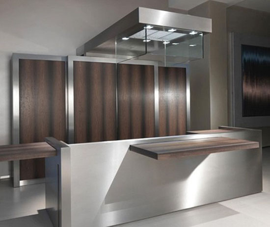 Contemporary Kitchens Sliding Island Top and Movable Storage Wall ideal venue for a cocktail party