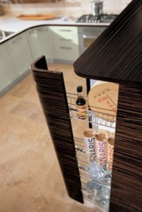 Contemporary Samal Kitchen design curving counters rounded cupboard edges by Gatto Cucine