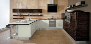 Contemporary Samal Kitchen designs curving counter rounded cupboard edges by Gatto Cucine