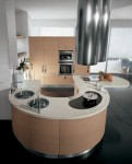 Contemporary Samal Kitchens design curving counters rounded cupboard edges by Gatto Cucine