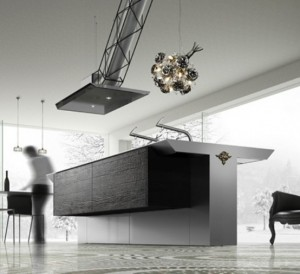 Cool Minimalist Kitchen In Strict metal grey and straight lines
