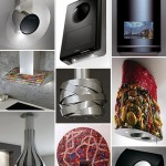 Cool Range Hoods with fun design and futuristic color
