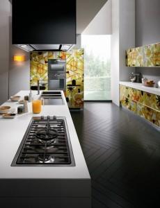 Crystal Kitchen giving depth and dynamism from Karim Rashid