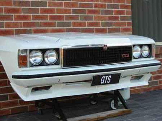 Custom Barbeque Grill outdoor from classic Holden Monaro GTS burger and steaks