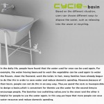 Cycle basin watering plant