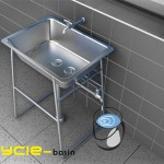 Cycle basin watering plants