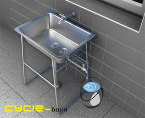 Cycle basin watering plants