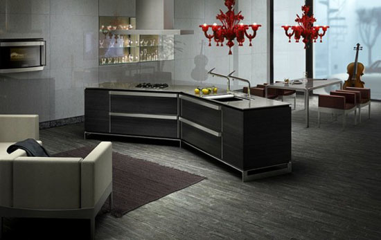 Dark Japanese Kitchen picture with kitchen Island innovations from Toyo
