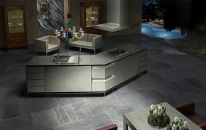Dark Japanese Kitchen picture with kitchens Island innovations from Toyo