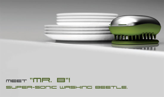 Dishwashing beetle with nanotechnology eliminate contamination of water