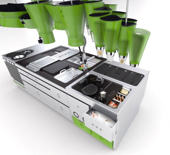 Ekokook intelligent kitchen design based on four pillars reducing energy consumption
