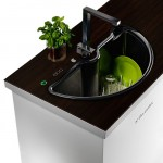 Electrolux eco pure washer sink with two rotatable part